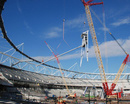 Construction of London 2012 Olympic Arena