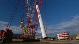 Beatrice Offshore Wind Turbine Erection
